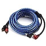 Cinch RCA Kabel, Samber 2x Cinch Stecker zu 2x Cinch Stecker Kabel Doppelt Geschirmt , für Auto Audio, Heimkino, HDTV, Hi-Fi Anlagen, BluRay Player und mehr, 5 m