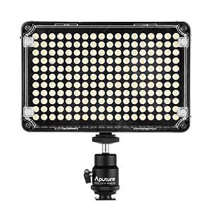 Aputure® Lampe Torche CRI 95+ 198 LED 5500K pour Caméra Vidéo Caméscope DV et Appareil Photo DSLR Nikon D4S / D4 / D3X Nikon D810 D800/D800E D750 D610 D300S D7100 D7000 D5300 D5200 D5100 D3300 D3200 D3100 COOLPIX S6900 COOLPIX S810c COOLPIX P600 COOLPIX S6800