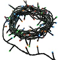 WeRChristmas Christmas Tree Lights String with Chasing/Static Settings - 50-Piece, Multi-Colour
