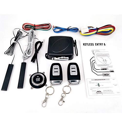 Festnight 9 Stücke Auto SUV Schalter Keyless Entry Engine Start Alarm System Taster Remote Starter Stop Auto Diebstahlsicherung