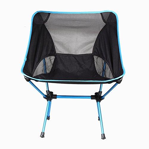 Demiawaking Chaise de camping pliante portable Pêche randonnée Chaises de plage avec sac de transport pour extérieur pique-nique Voyage