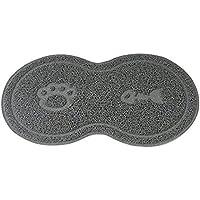 RUNFON alfombra fiambrera perro alfombra antideslizante fiambrera ethanche alfombra alimentación para perro gato animaux-45X 26CM