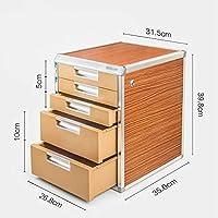 HongLianRiven Archivo contenedor Fuerte Resistencia colisión Necesidades organizacionales escritorios estándar de aleación de Aluminio, MDF (31.5X35X39.8CM) 12-30 (Color : B)