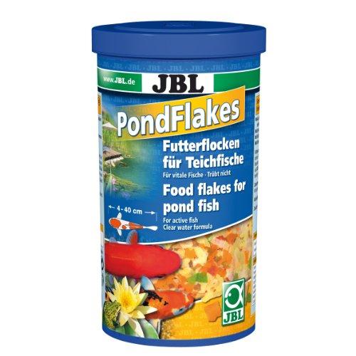 JBL Futterflocken PondFlakes 40195, Hauptfutter für alle Teichfische, 1 l
