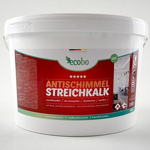 10l ecobo Antischimmel Streichkalk, Kalkfarbe, Weiß, Atmungsaktiv