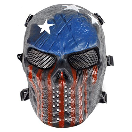 QZY Vollgesichtsmaske Tactical SPT Mesh Maske Fit, Halloween Outdoor Reithelm Schutz Zubehör,C