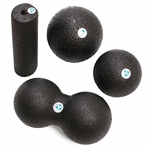 Faszienball / Faszienrolle / Double-Ball »BlackCat« / ideal zum Faszientraining & zur Selbstmassage / unterschiedliche Varianten & Größen / Farbe : Schwarz / Faszienball groß