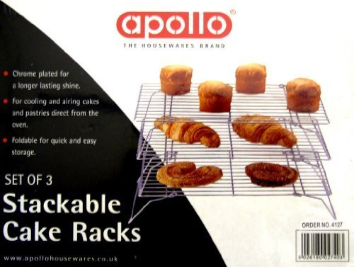 3 Stackable cake cooling rack - Wire frame by - Frame Wire Rack
