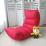 Sport&Sofa Verstellbar, Zusammenklappbar Lazy Sofa Six-Position Relax Boden Stuhl und Spiele Stuhl–Boden Kissen MultiAngle Couch Betten für Watch TV/Gaming/Mittag Rest/Nap (Kaffee) Rot