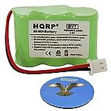 HQRP Batteria per Eton/GRUNDIG FR360-BAT/FR360/Axis Radio + HQRP Sottobicchiere