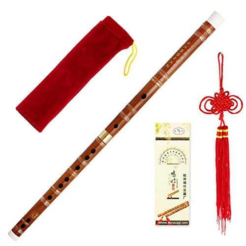 Kmise Steckbare traditionelle handgemachte chinesische Musikinstrument Bambusflöte / dizi In G Key