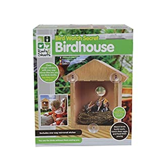 Ardisle WINDOW FEEDER WOODEN SECRET GARDEN BIRD HOUSE WATCH BOX NEST NESTING CLEAR NEST 7