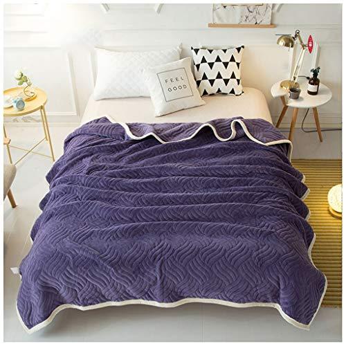 Decke Super Weiche Baumwolle Kaschmir Häkeln Sofa Abdeckung Decke Winter Bett Bettwäsche Warme Weiche quilt Bett Wirft(L:120,150,180,200CM W:200,230CM) Bettwäsche ( Color : D , Size : 180X200CM ) -