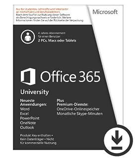 Microsoft Office 365 University - 2PCs/MACs - 4 Jahresabonnement - multilingual (Product Key) [Download] (B00B4146CW)   Amazon price tracker / tracking, Amazon price history charts, Amazon price watches, Amazon price drop alerts