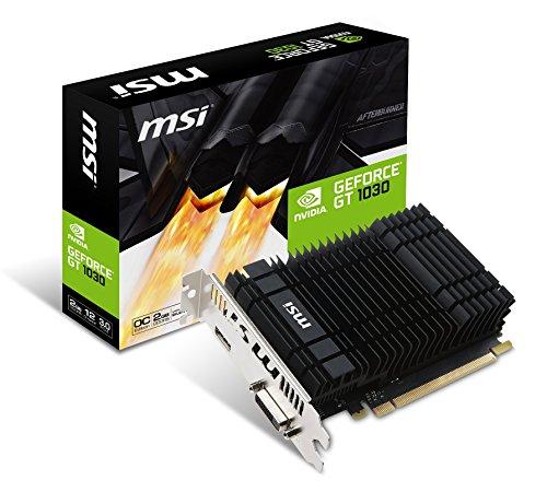 MSI GeForce GT 1030 2GH OC 2GB Nvidia GDDR5 1x HDMI, SL-DVI-D, 2 Slot Afterburner OC, Grafikkarte