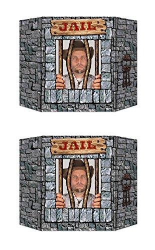 Beistle Jail Deko Foto Requisite 2er-Set mehrfarbig