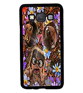 Fuson 2D Printed Funny Faces Designer back case cover for Samsung Galaxy A3 A300F - D4284