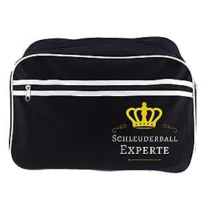 Retrotasche Schleuderball Experte schwarz