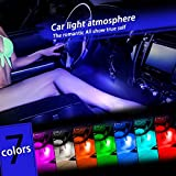 Thunder 12V 43 LED Car Interior Decorative Atmosphere Neon Light Lamp - Best in Automotive Interior Accessories - Auto Car Floor Lights with Glowing Blue Bright Light for All Vehicles