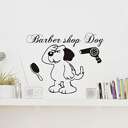 yaoxingfu Lustige Pflege Shop Kunst Wandtattoos Hund sprengen Seine Vinyl Wall Decor Aufkleber für die Pflege Hund Salon wasserdichte Dekoration Z42 x 44 cm