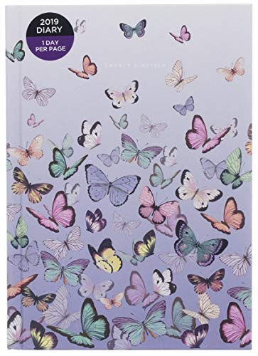 Whsmith Amaya 2019A5farfalle Diary Day to page