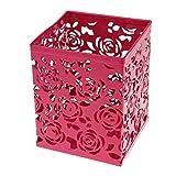 My. Sport creux Rose carré Porte stylos pour bureau Fournitures scolaires 1 rose rouge
