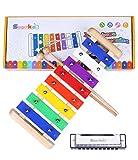 Smarkids Xylophon Musikinstrumente Kinder - Holz 8 Anmerkung Metallschlüssel Glockenspiel und Harmonika Percussion...