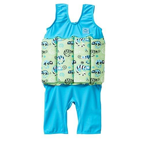 Splash About Kinder Short John Float Anzug mit Reißverschluss, Green Gecko, 1-2 jahre (Reißverschluss John Short)
