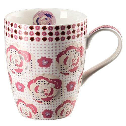 Hutschenreuther 02471-725746-15505 Lots of dots Meadow Becher mit Henkel 0,3 L, rosa