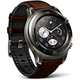Huawei Watch 2 Classic - Titanium Grey with Brown Hybrid Strap - Android Wear 2.0