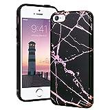 YT MARQUEEN Coque iPhone 5/5S/SE, Housse Marbre Motif Souple TPU Étui Protection...