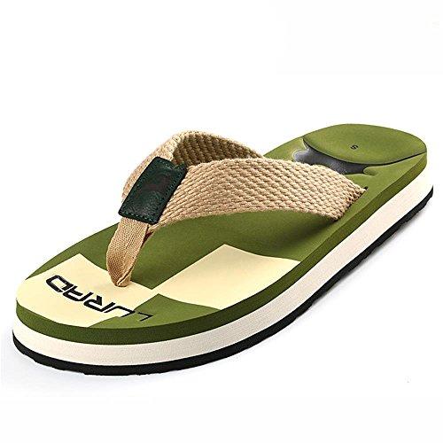 ALUK- Sandales d'été - Décontracté Antidérapant Hommes confortables Chaussons résistant à l'usure Chaussures de plage ( Couleur : Vert , taille : 41 ) Vert