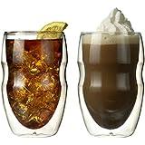 Ozeri - Bicchieri a doppio strato, serie Serafina, 354 ml, confezione da 2
