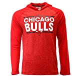Chicago Bulls tip-off Adidas Dassler Hooded Long Sleeve T Shirt, Herren, Red Heather