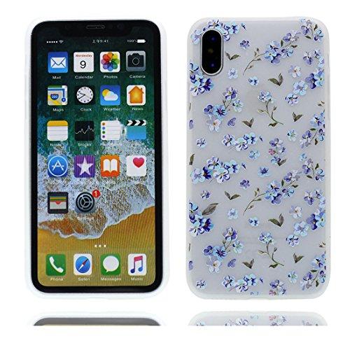 iPhone X Custodia, iPhone 10 Copertura Crystal Case gel trasparente [Slim-Fit] [Anti-Scratch] [assorbimento di scossa] [Supporta la ricarica wireless] iPhone X Copertura (Nuova moda) # 4