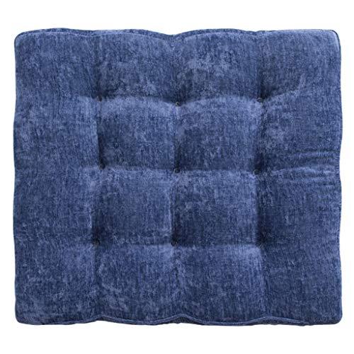 Mahagoni Outdoor-sofa (NJ Polster- Kissen Padded Tatami Kissen chinesischen Stil Mahagoni Sofa Chair Kissen Polsterung Boden Fenster Pad 40x43cm, 50x60cm (Farbe : Blau, größe : 50x60cm))