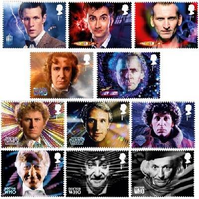 Doctor Who 11 Stamp Stempel Set -