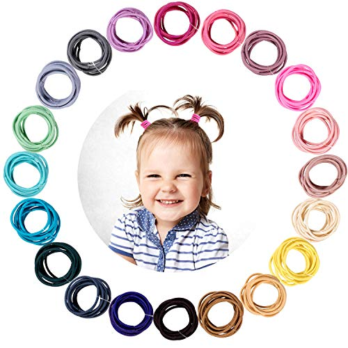 Whaline 200PCS Baby Hair Ties, M...