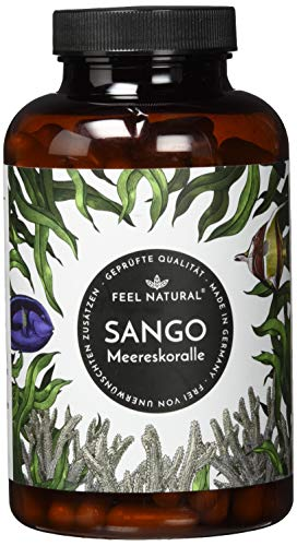 Sango Meereskoralle Kapseln - 180 Stück (2 Monate). 3300mg, davon 660mg Calcium, 330mg Magnesium (2:1 Verhältnis). Laborgeprüft, hochdosiert, hergestellt in Deutschland -