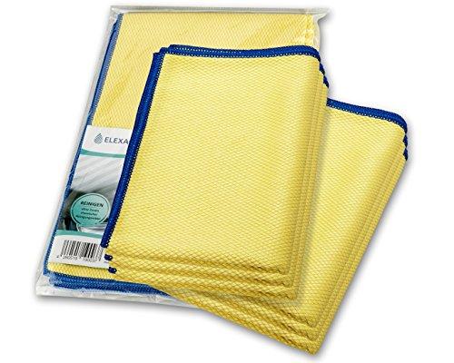 ELEXACLEAN Fenstertuch streifenfrei, Premium Mikrofaser Scheibentuch (6 Stück, 60x40 cm), Glas Putztücher Autotuch für Innen & Außen
