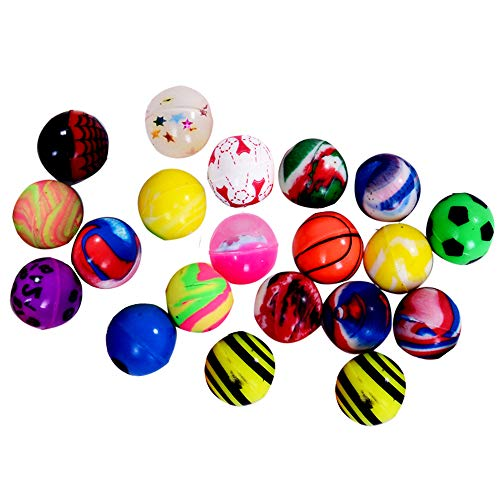 Onepine 20 Stücke Bouncy Balls Gummibälle 2.5cm Springball Hüpfbälle, Hoch Springende Bälle für Kinder (20 PCS)