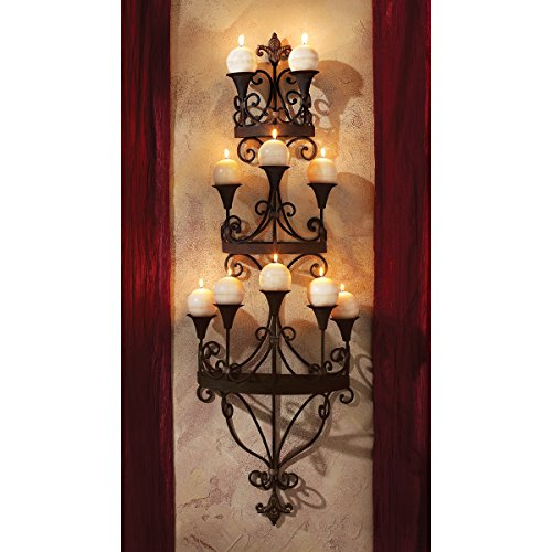 Design Toscano Carbonne, Wandkerzenleuchter