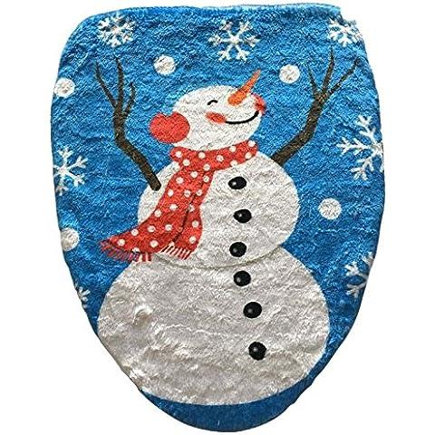 Pupazzo di neve, coperchio WC stampato ornamento di Natale,Pupazzi di neve albero