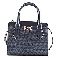 Michael Kors Women's Mott Medium Messenger Convertible Crossbody Bag Purse Handbag (Admiral)