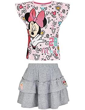 Disney Minnie Ragazze Maglietta e gonna - rosa