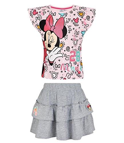 Disney minnie ragazze maglietta e gonna - rosa - 116