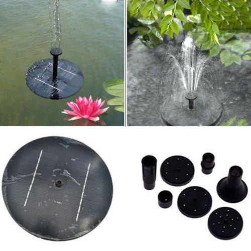Wasserspiel Brunnen Wasserbrunnen Solar Springbrunnen Fontane Teich Pumpe Garden ,Fördermenge:150L / H,Maximale Wasserhöhe:30CM,Solarmodul Power:1,4 W