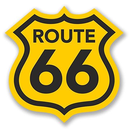 Preisvergleich Produktbild 2x USA Route 66Vinyl Aufkleber Aufkleber Laptop Reise Gepäck Auto Ipad Schild Fun # 4291 - 20cm/200mm Wide