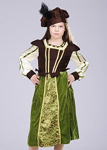 Kinder Größe Tudor Schulmädchen Kostüm Kostüm Large (9-11 years)
