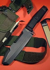 EXTREMA RATIO 04.1000.0127/BLK Fest in piedi Coltello Ontos + Kit di sopravvivenza Nero Coltello da caccia coltello Outdoor Cavaliere Medioevo Survival vendita a partire da 18anni